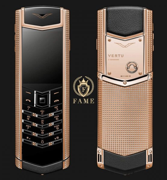 Vertu Signature S Clous de Paris Red Gold Mới 100%