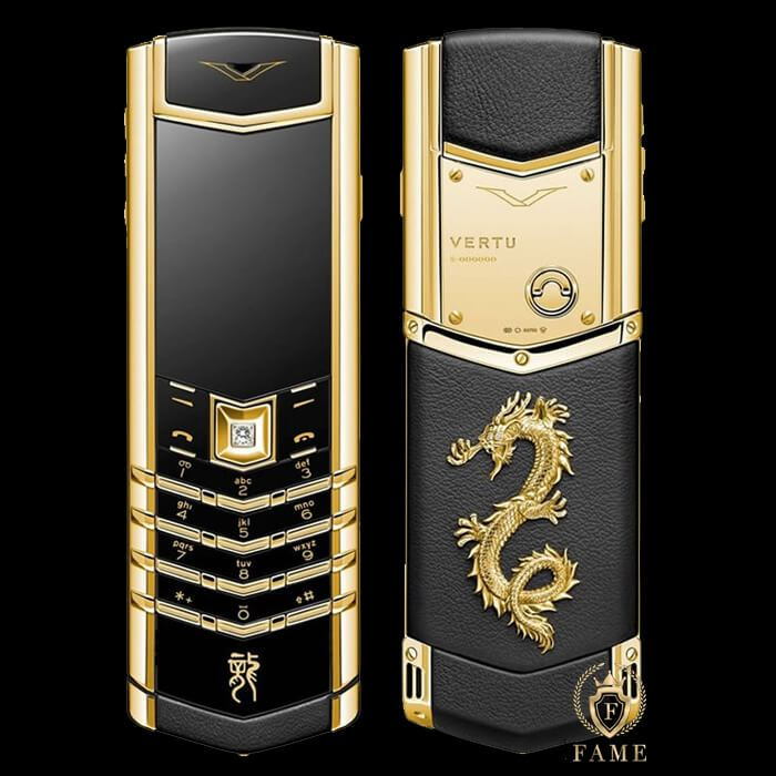 Vertu Signature S Gold Dragon Mới Full Box