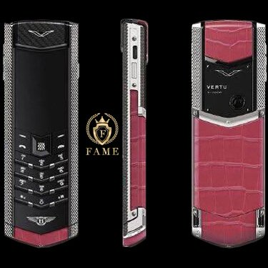 Vertu Signature For Bentley Pink Alligator