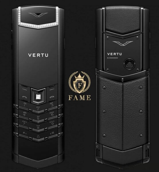 Vertu Signature S Pure Black Skin Diamond Mới Full Box