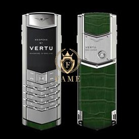 Vertu Signature Stainless Steel Handset Hunter Green Alligator