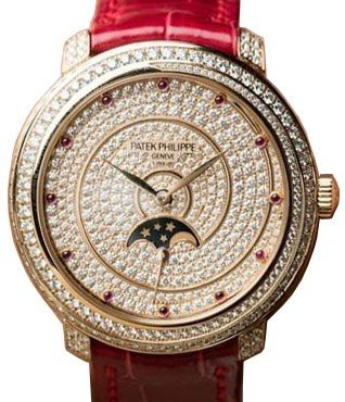 Patek Philippe Complications Rose Gold Full Diamond Pave 4968/400R-001