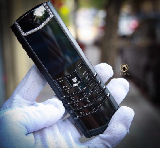 VERTU SIGNATURE S PURE BLACK DIAMONDS Dùng Lướt