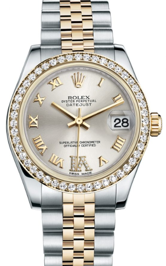 Rolex Oyster Perpetual Lady Datejust 178383 31mm Yellow Gold Diamonds
