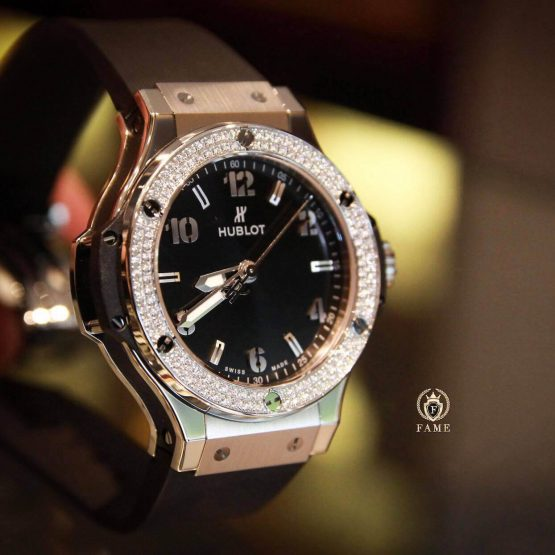 Hublot BigBang Quartz Steel Diamonds 38mm