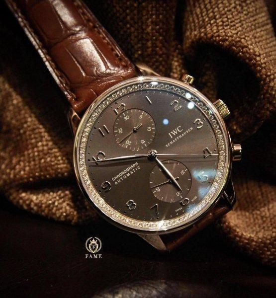 IWC Portuguese Chronograph Rose Gold Diamond 41mm