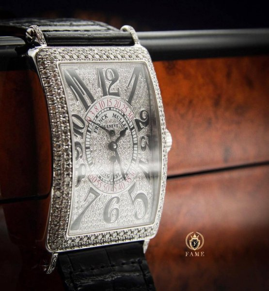 FRANCK MULLER LONG ISLAND1100 WHITEGOLD FULL DIAMONDS Dùng Lướt
