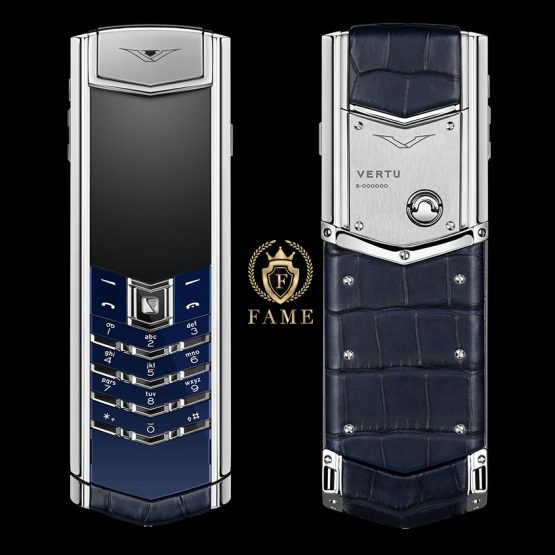 Vertu Signature S Navy Alligator New FullBox