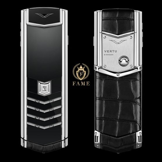 Vertu Signature Black Alligator Stainless Steel