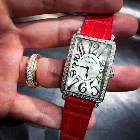 Franck Muller Long Island 952QZ Stainless Steel Diamonds