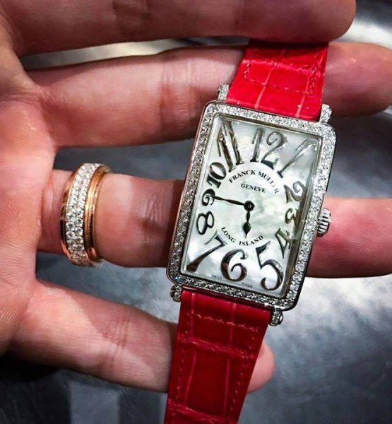 Franck Muller Long Island 952QZ Stainless Steel Diamonds