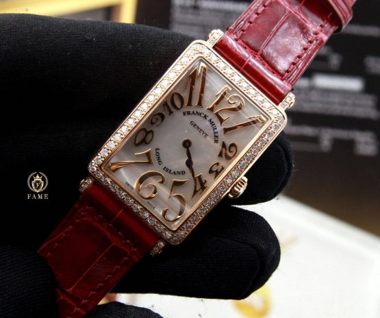 Franck Muller LongIsland 952QZ Rose Gold Diamond