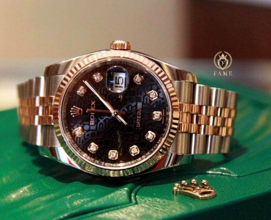 Rolex Datejust 36mm Stainless Gold Bracelet Diamond 116231