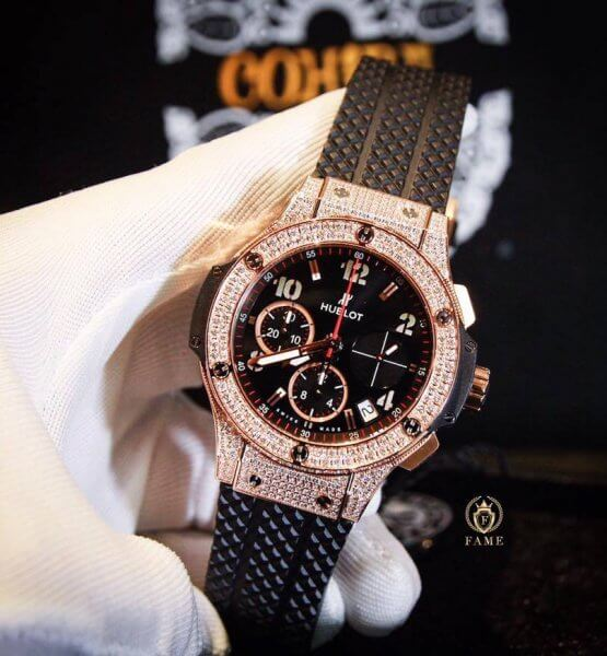 HUBLOT BIG BANG KING GOLD PAVE DAIMONDS 41mm