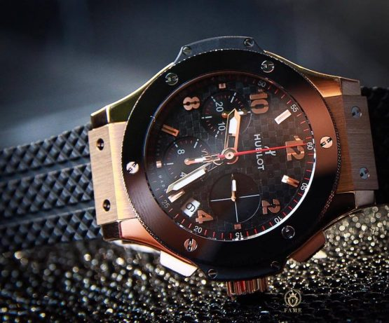 HUBLOT BIG BANG KING GOLD CERAMIC CARBON 41mm
