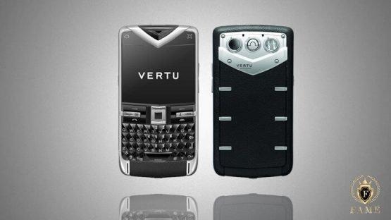 Vertu Quest Black Leather Sapphire