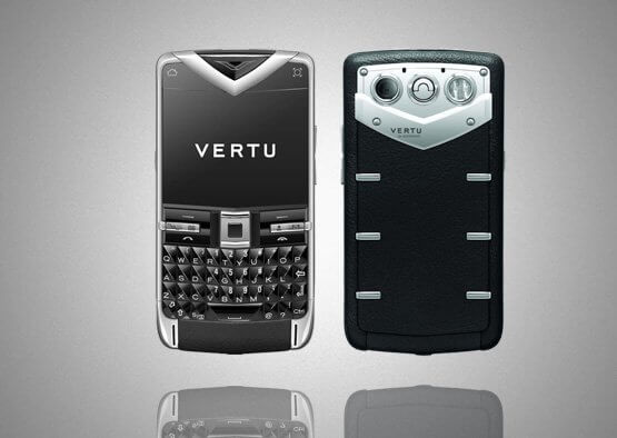 Vertu Quest Black Leather Sapphire