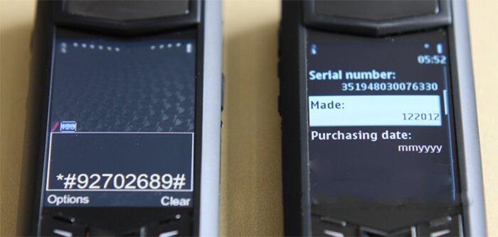 Kiểm tra Vertu thật giả qua Serial Number