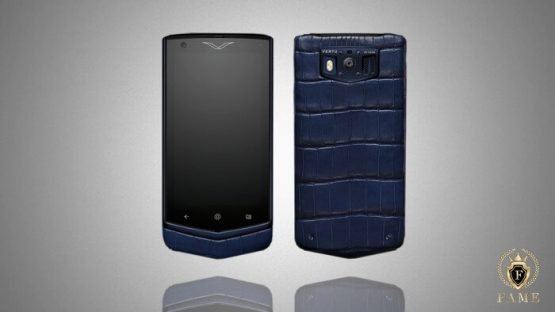 Vertu Constellation Pure Navy Alligator