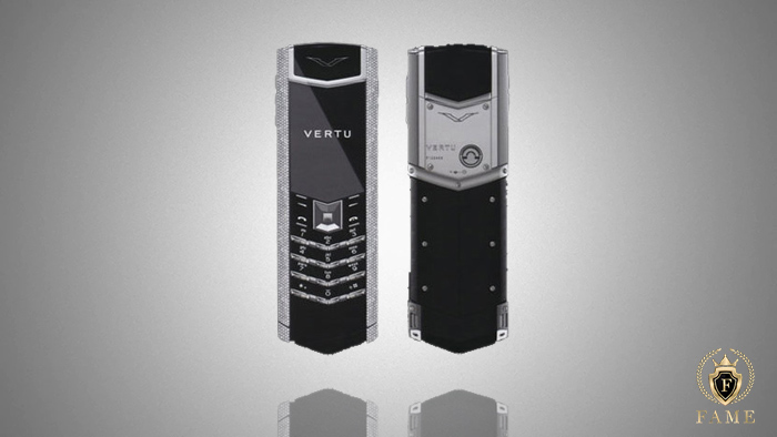 Vertu Signature S White Gold Pave Baguette Diamonds