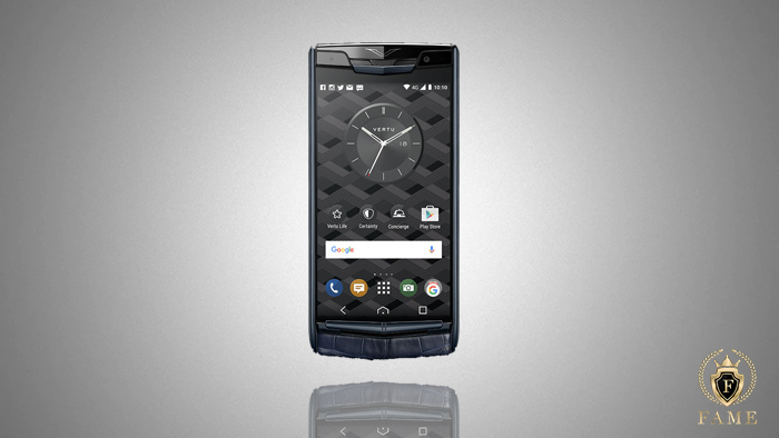 Vertu Signature Touch Navy Alligator