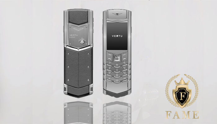Vertu Signature Stainless Steel Silver Sapphire