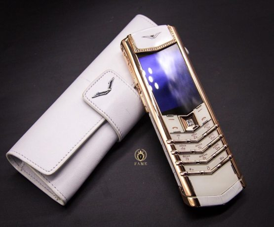 Vertu Signature Rose Gold Diamonds Alligator Dùng Lướt