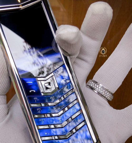 Vertu Signature S Navy Alligator Dùng Lướt