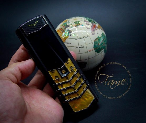Vertu Signature S Gold Mother Of Pearl Black Alligator Limited lướt đẹp 99%